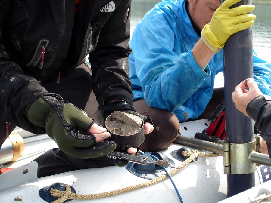 Checking core catcher sample