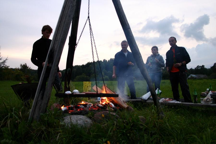 Barbecue in the evening